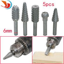 5pcs/set Power Tools Woodworking rasp chisel shaped rotating embossed grinding head power tool engraving pattern cutter milling(China (Mainland))