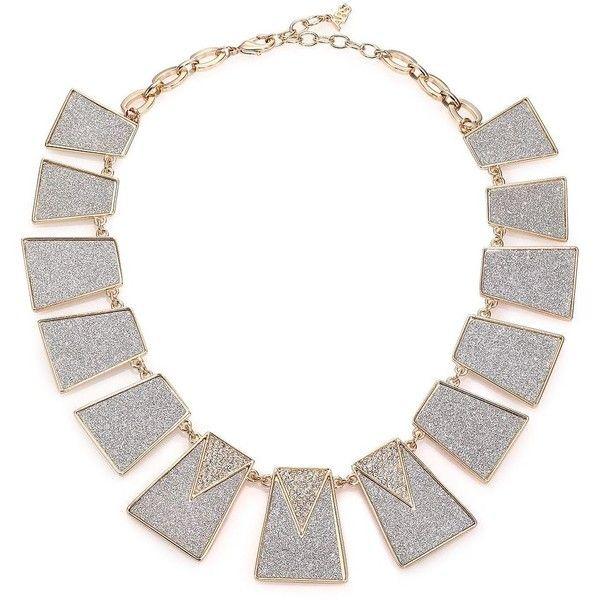 ABS by Allen Schwartz Jewelry Gold Coast Glitter Panel Collar