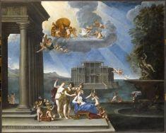 Francesco ALBANI, dit L'ALBANE (Bologne, 1578 - Bologne, 1660)  La Toilette de Vénus  1621 - 1633  H. : 2,02 m. ; L. : 2,52 m.  Collection de Louis XIV (acquis en 1685)  INV. 9