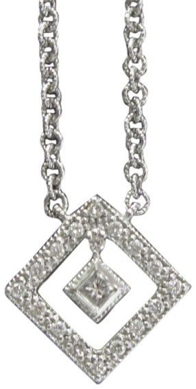 Philippe Charriol 18K White Gold and Diamond Necklace