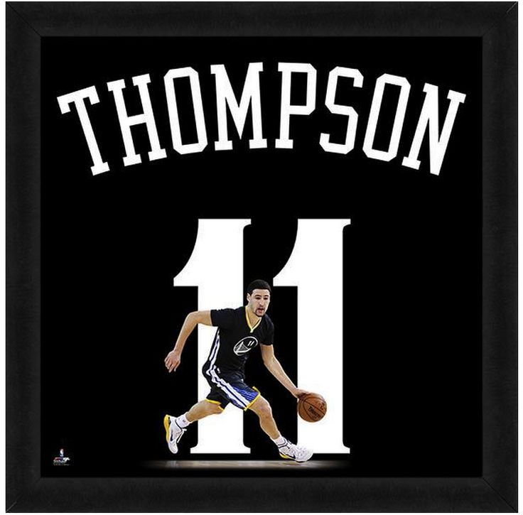 """Klay Thompson Golden State Warriors - Officially Licensed 20"""" x 20 Uniframe"""