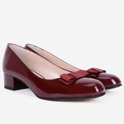 Pantofi din piele naturala bordo Marbella