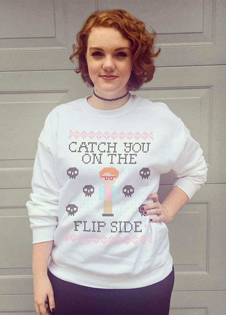 Shannon Purser in a Barb shirt STRANGER THINGS << I HAVE THE SAME HAIR AS HER