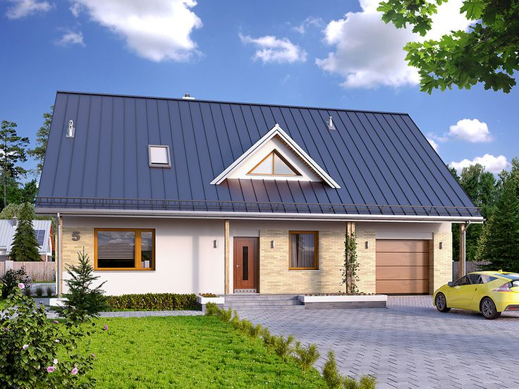 Projekt Jeżyna 2 (166,85 m2) to powiększona wersja projektu Jeżyna z garażem w…