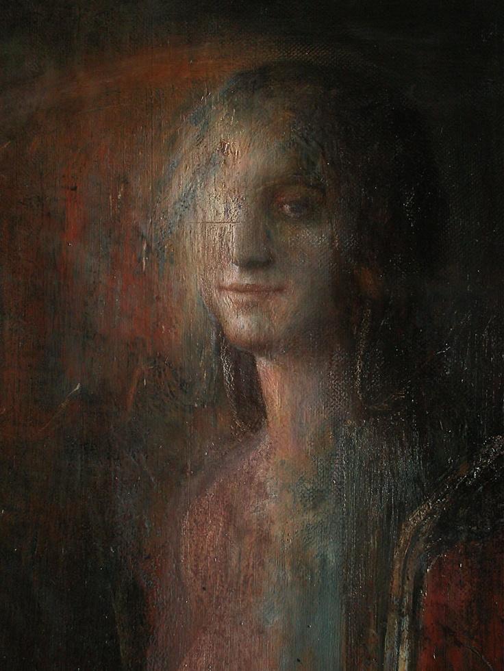 study for the thirst ( studio per la sete)   oil on linen   ( detail)