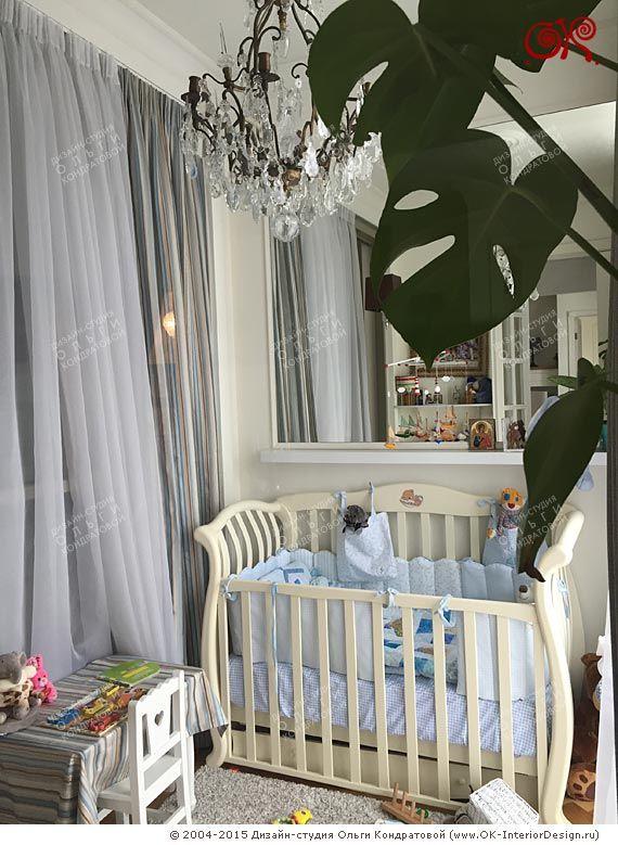 Кроватка в интерьере детской комнаты