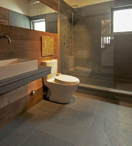 Slate Bathroom Modern Bathrooms And Rustic: 87 Best Images About Slate Bathroom On Pinterest