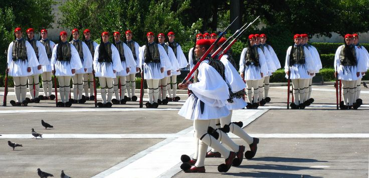 Evzones, changing of the guards, Athens