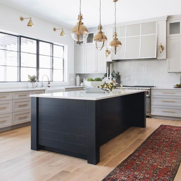 Industrial Style Kitchen Island Lighting How About This Black Shiplap Island From