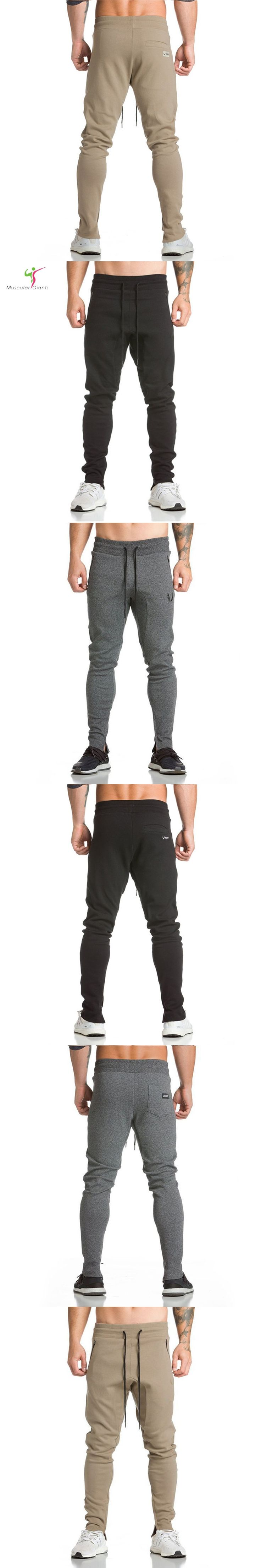 2017 New Fashion Men's GASP&GOLDS Pants, Male Fitness Workout Pants,Sweatpants Trousers Jogger Pants M-XXL