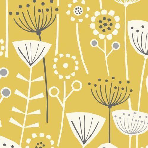 Bergen Ochre Yellow Scandinavian 100% Cotton Curtain and Upholstery Fabric