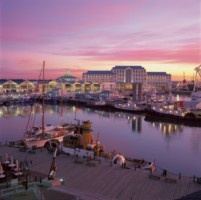 Beind a pink sky- The five star Table Bay Hotel. http://www.south-african-hotels.com/hotels/table-bay-hotel-cape-town/
