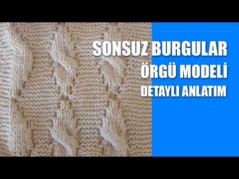 SONSUZ BURGULAR Örgü Modeli - Şiş İle Örgü Modelleri