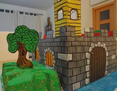 Il castello, riciclo di scatola di cartone Castillo de cartón puponelandia.com