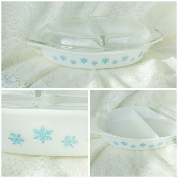 Now available! Vintage Covered Pyrex Casserole dish white with turquoise snowflakes perfect for the coming winter months! $25 at HildasAttic.Etsy.com  #Pyrexia #Pyrexlove #Pyrexcollector #Pyrexturquoise #turquoisepyrex #EtsyLove #EtsyShop #EtsySeller #EtsyShop #InstaShop #InstaSale #InstaLove #NoFilter #PyrexFinds #EtsyFinds #EtsyGold #PyrexSnowflake #PyrexCasserole