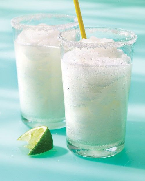 Margaritas can be made in a blender or served on the rocks, and we're certainly not here to tell you that one way is better than the other. A marg is a marg, after all -- and we'll take it any way you'd like to make it! Still, if you're looking to blend your way to happiness, these are the recipes to try.Let's start with this classic --fresh lime juice, tequila, sugar, and lots of blended ice in a salt-rimmed glass.
