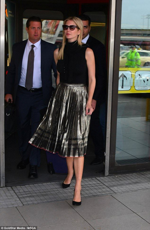 Ivanka Trump seen arriving at Berlin Tegel airport for the W20 conference which will form part of her trip to Germany