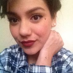 Face tattoo heart tattoo dark red lipstick chola cholabilly mi vida ...