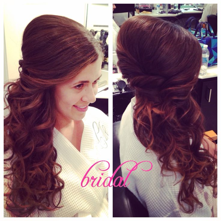 Exceptional Side Ponytail For A Beautiful Bride. CHAIRish The Day!