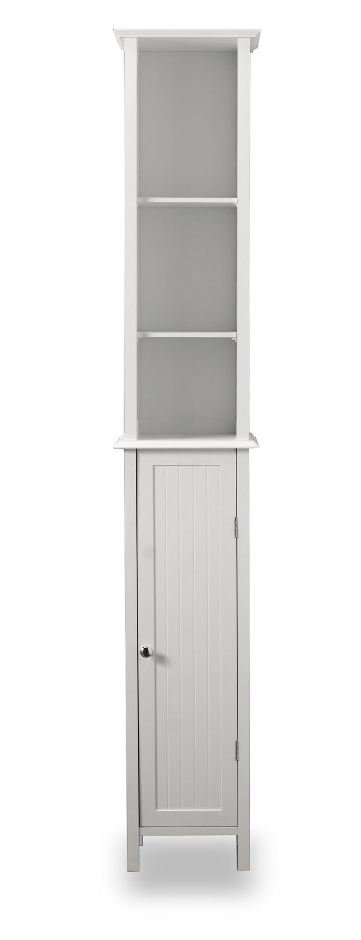 Bathroom cabinets freestanding - Tall White Shaker Style Bathroom Cabinet Freestanding As It Pertains To Toilets Space Is Restricted