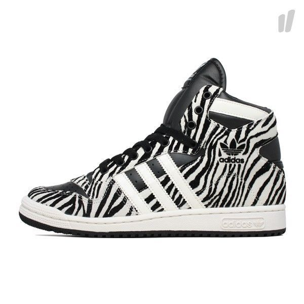 Womens Adidas Decade OG Rare Zebra Sneakers New, Black White G61055 Jeremy  Scott