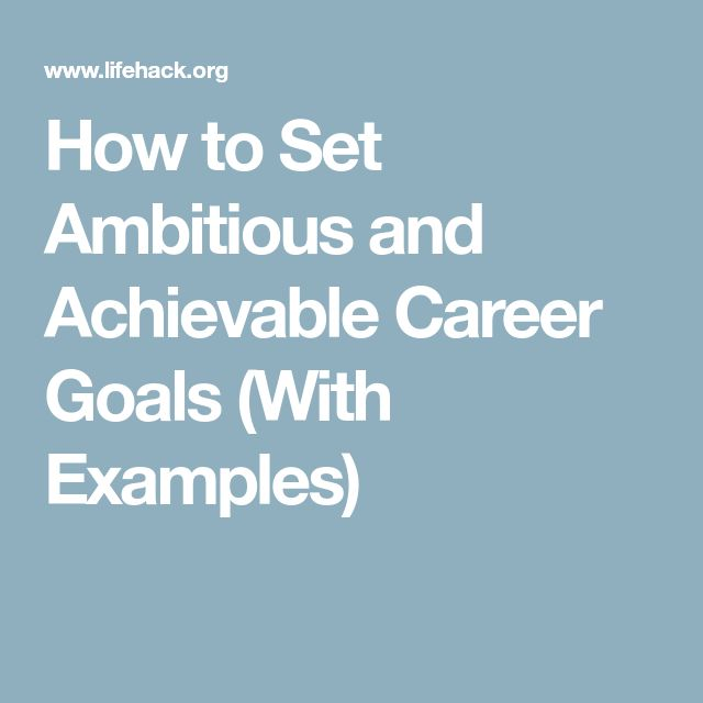 The 25+ best Career goals examples ideas on Pinterest Career - career goal examples