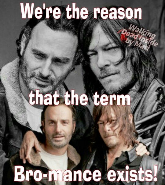 The Walking Dead, Memes, Rick Grimes, Andrew Lincoln, Daryl Dixon, Norman Reedus, Bro-mance