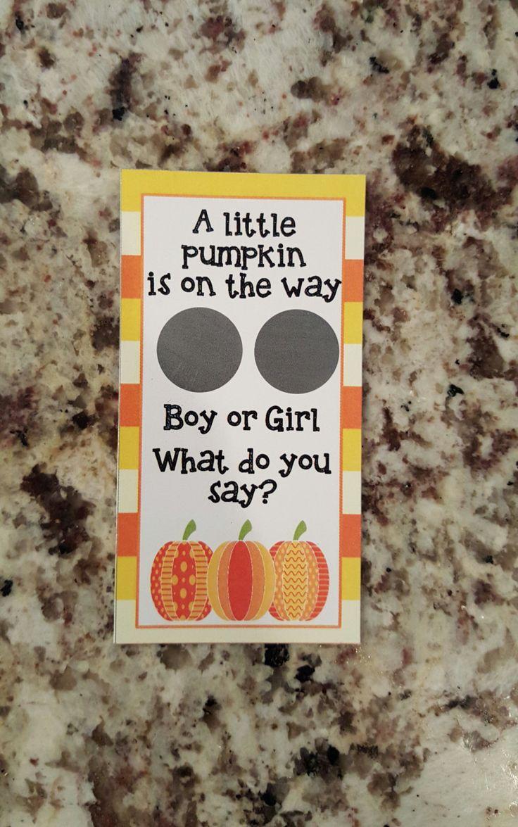 20 Halloween Pumpkin Gender Reveal Scratch Off Tickets by msmemories101 on Etsy