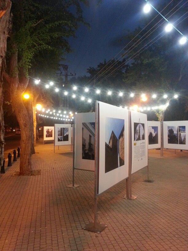 Photo exhibit on  streets of Ramat Hasharon, Israel. ..by Fanny Bejar Cohen