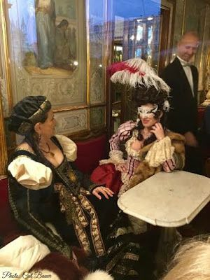 Venice Carnival - Through the Window of the Florian...