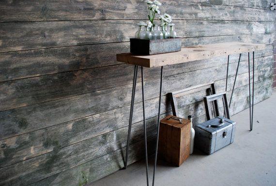 wood table w/steel legs = future project