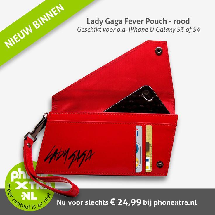Zoek jij iets speciaals om bij het uitgaan je iPhone of Samsung Galaxy veilig in op te bergen. Zodat je niet je dure mobiel kwijtraakt?  Alles past in deze portefeuilletas. Je mobiel, geld, pasjes en eventueel ook je oogpotlood. Compleet met polsbandje en verkrijgbaar in het rood of zwart.  Check: http://www.phonextra.nl/lady-gaga-fever-pouch-iphone-4-s-rood.html  Of bekijk de gehele Lady Gaga collectie: http://www.phonextra.nl/lady-gaga.html