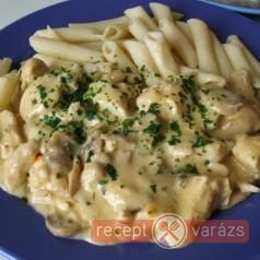 Csirkemell gombával - Chicken breast with mushrooms