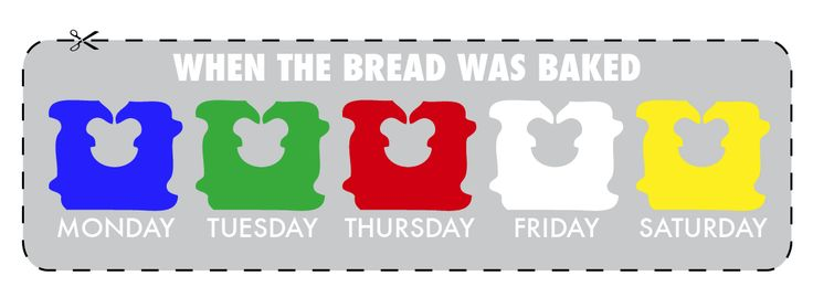 How to Get the Freshest Loaf of Bread: I turns out that bread clips and twist ties are color coded according to the day the bread was baked. (And the names of the colors are in alphabetical order!) Hah!  #Bread #Shopping