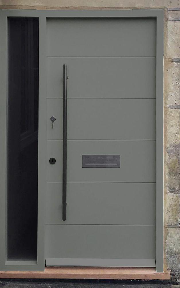 Grey Modern Front Door In The City Of Bath Handcrafted By Bath Bespoke Wooden Doors Wood Doors Interior Interior Doors For Sale