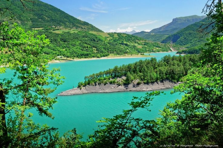 View of the Lake Monteynard-Avignonet - Isère, France