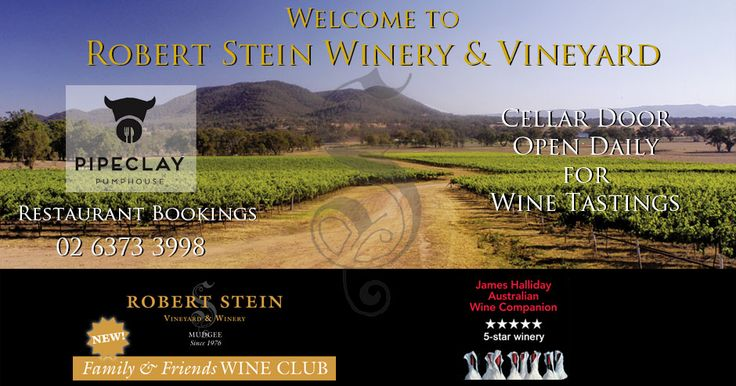 Welcome to Robert Stein Winery & Vineyard, Mudgee, where Pipeclay Pumphouse Restaurant is located. Also a Motorcycle Museum.
