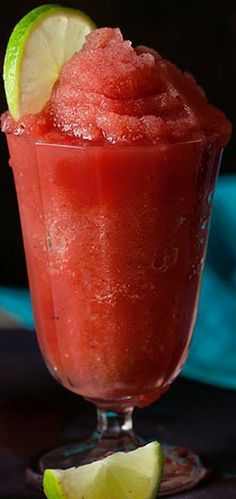 frozen watermelon daiquiri, love watermelon so I will have to dig out the chart to translate into cups, ounces.