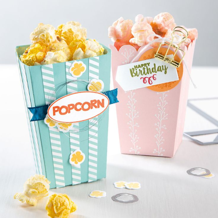 Ready to pop popcorn box thinlits dies by stampin39 up su popcorn box thinlits pinterest for Ready to pop popcorn boxes