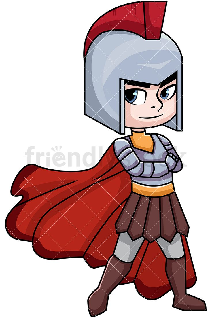 Ares God Of War: Royalty-free stock vector illustration of Ares (Mars), the ancient Greek god of war and battle - the not-so-loved son of Zeus and Hera. Depicted crossing his arms over his chest in full armor. #friendlystock #clipart #cartoon #vector #stockimage #art #olympian #greek #roman #gods #ares #mars