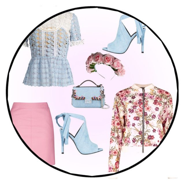 Summer date by slytheriner on Polyvore featuring self-portrait, Boohoo, Topshop, Kendall + Kylie, Fendi and Zara Taylor