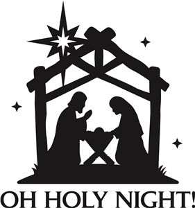 View Design: 'oh holy night' christmas vinyl phrase