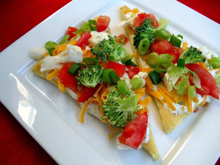 Vegetable Pizza: Food, Cream Cheese, Vegetables, Appetizer, Veggies, Favorite Recipes, Veggie Pizza, Pizza 8 25 10