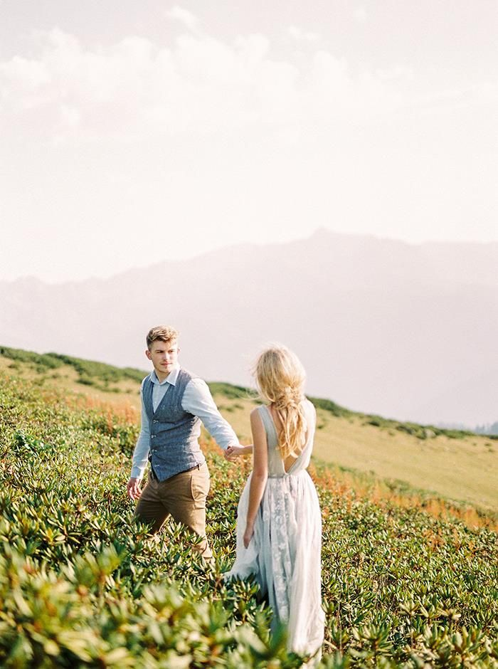 Simple Wedding Inspiration in the Mountains