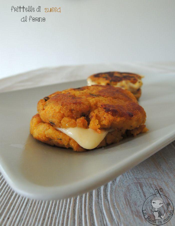 frittelle di zucca al forno,formaggio,giallozafferano,la rica in cucina,zucchine,ricetta veloce,patate,zucchine,secondo piatto,light,prosciutto cotto,zucca