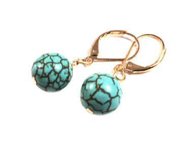 Delphine Turquoise Gem Earrings