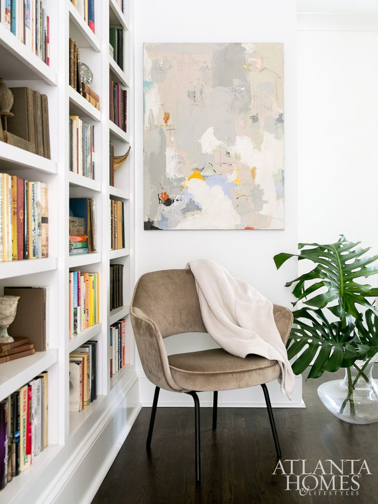 ... Harrington Fine Art Accents Custom Bookshelves In An Upstairs Hallway.  Historic Brookhaven Cottage Transformed From Homely Duckling To Beautiful  Swan