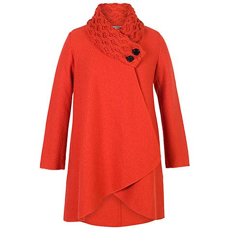 Buy Chesca Arran Collar Coat, Orange Online at johnlewis.com