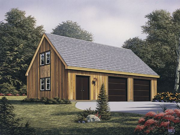 Garage plan W3982 Threes the charm This roomy 3 car garage is 32