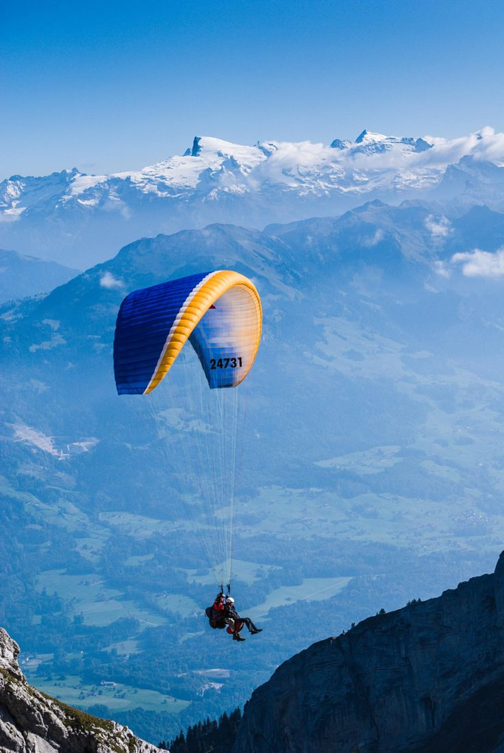 Paragliding the Alps.